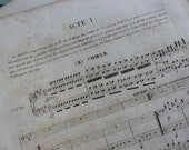 Music Sheets, Very Old, x 20 Pages For Craft work. French, Circa 1840's
