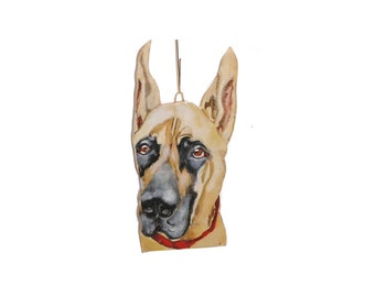 Great Dane Christmas Dog  Ornament