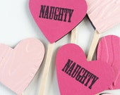 Naughty Hearts Cupcake Toppers - VALENTINES DAY