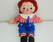 Raggedy Andy Musical Doll with Brahms Lullaby Music Box Inside