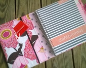 Plum Paper Planner cover case in Auntie's Attic Large Floral Rose Canvas fabric Made to order!
