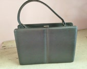 Andrew Geller Purse Dark Gray Small Leather Vintage