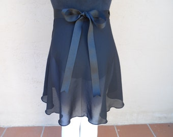 """Child Large/Teen 15.5"""" Wrap Skirt, Many Colors, Ballet Skirt, Ballet Wrap Skirt, Dance Skirt, Ice Skating Skirt"""