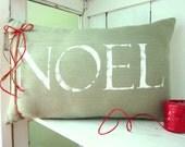 50% CLEARANCE SALE Christmas pillows, holiday decor, noel pillow, rustic christmas, noel, green pillows, decorative pillows, farmhouse