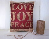 50% CLEARANCE SALE Christmas, holiday decor, christmas pillow, red holiday, red pillows, decorative pillows, farmhouse style, rustic