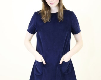 Mod Dolly Alexa Corduroy 60S Shift Dress