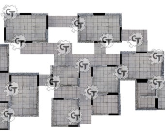 Print and Play Dungeon - Core tile set, for Dungeons and Dragons, Pathfinder, Warhammer Quest, and more!