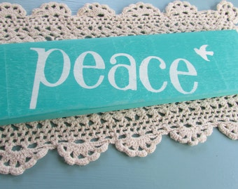 PEACE with Dove Reclaimed Wood Sign,  Inspirational Sign, Positive Thoughts  Wall Art, Peace Wall Art