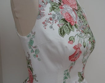 Handmade FLORAL dress - minor faults - BARGAIN price Stunning dress!