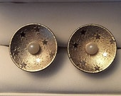 Original Vintage Pearl Moon and Stars Drogo and Daenerys Cufflinks