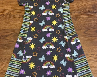 Violet Pocket Dress or Tunic Top. Long, 3/4, or Short Sleeves
