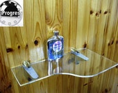 Large Wall Clear Acrylic Infinity Style Shelf With Large With Two Shelf Brackets