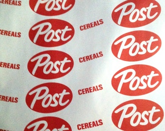 Vintage store display paper for Post Cereal store display