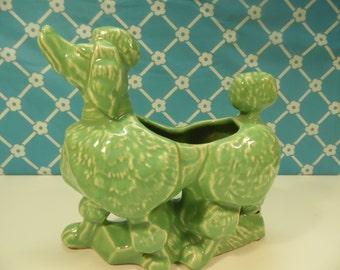 McCoy Poodle Planter - Ceramic - Mid Century Decor