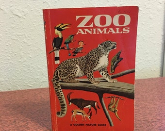 Vintage Book, Zoo Animals, A Golden Nature Guide