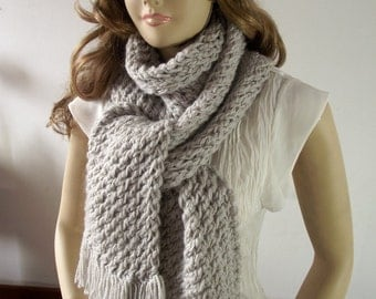 KNITTING SCARF PATTERN Central Park with Fringes Big Scarf for women Big Warm Cowl Pattern pdf file pattern Instant Download