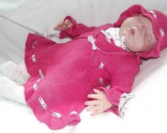 """ALMOST FREE Tamara - To fit 0-3 Months/20-22"""" Reborn - Knitting Pattern"""