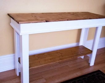 Farmhouse Console Table , Side Table , Entry Table , Foyer Table