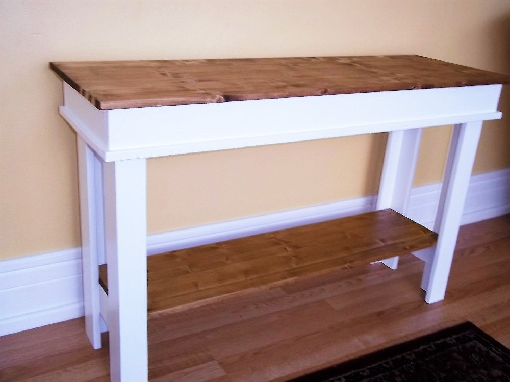 Foyer Table Farmhouse : Farmhouse console table side entry foyer