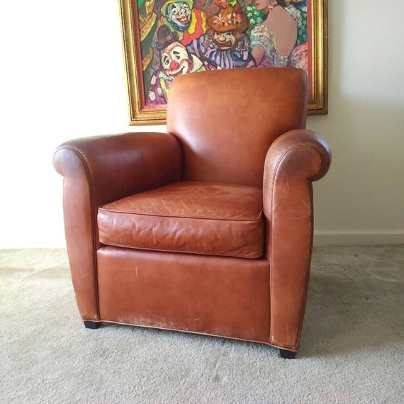 Coach leather club chair by baker furniture by pepeandcarols for Coach furniture
