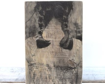 Reclaimed Wood Photo mom mens gift Photo gift Photo on Wood Wooden photograph 5th Anniversary Gift Wood Portrait Wood Photo