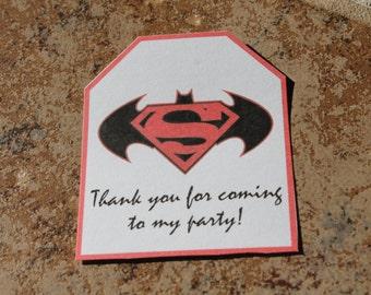 INSTANT DOWNLOAD Batman vs. Superman Party favor tags