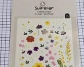 Sualelier DECO FLOWER Sticker sheet - 1 sheet - Lovely Flower stickers seal, Cute Scrapbook Supplies, Korea sticker 1050