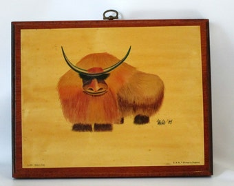 Unique Print of Yak  Done in 1965.