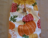 Fall Hanging Dish Towel, Hanging Kitchen Towel, Crochet Top Towel, Hanging Dish Towel, Housewarming Gift, Home Decor
