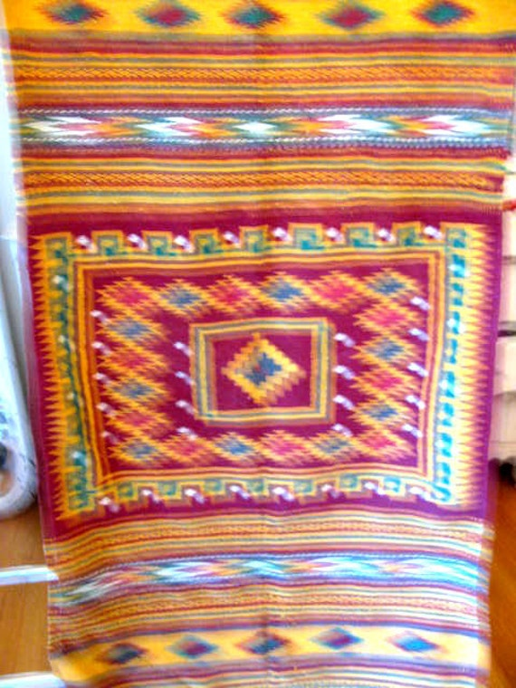 Lovely mexican Blanket / Throw Textured Fabric Great for ...