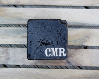 monogram Rustic Initial groomsman gift stone coasters Dinner Party Gift Hostess Gift script rustic wedding gift personalized mens gift