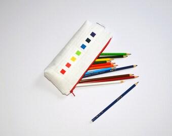 Pencil Case, Pencil Pouch, Zipper pouch, Art Case, School Supplies, Rainbow, Make-Up Bag
