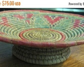 20% Heart Sale Collectible Vintage Native American Style Woven Basket-Teepee-