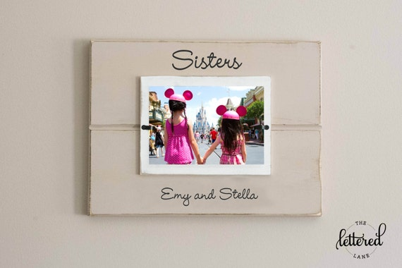 Sisters personalized picture frame, girl frame, sister, shared room decor, best friend frame