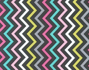Mini Chic Chevron (Pink) - Michael Miller Fabrics - 1 Yard