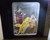 Vintage Color Religious Glass Slide,Sign of The Cross