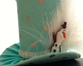Frozen Inspired Olaf Elsa Mad Hatter Mini Top Hat. Great for Birthday Parties, Tea Parties, Photo Prop, Girls Night Out and Much More...
