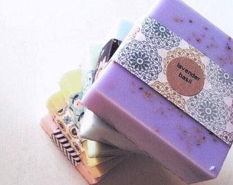 Soap Pack- 4 full size soap bars- handmade goats milk soap