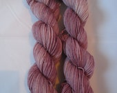 Two at a Time  Sock Yarn -  2 x 50 gr skeins of fingering weight yarn in a variegated colour way - Purples