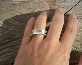 Contemporary wrap sterling silver ring