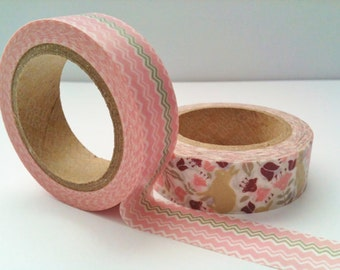 Set of 2 Washi Tape, Botanic
