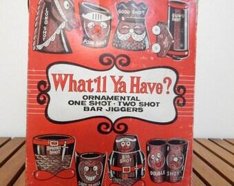 "1950's ""What'll Ya Have"" Shot Jiggers"