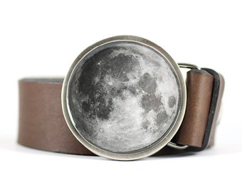 Full Moon Belt Buckle, Moon belt buckle, Nature belt buckle, Halloween