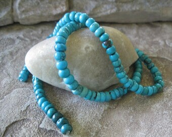 """Natural Turquoise Rondelle Beads 6.5-7 mm Green Blue 16"""""""