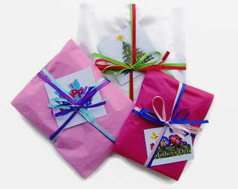 Gift Wrap, Gift Wrapping, Satin Bow, Note Card, Ship to Recipient