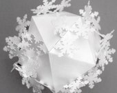 Papercut Snowflake Bauble - Chunky Snowflakes