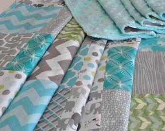 Gender Neutral Baby Blanket, BABY Patchwork BLANKET, Baby/Toddler Patchwork Blanket, 38 x 43