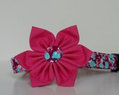 Floral Pink Purple Flower Dog Collar Easter Collar Wedding Accessories Made to Order