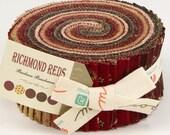 RICHMOND REDS Jelly Roll by Barbara Brackman for Moda Quilt Fabrics - Hard to Find!!