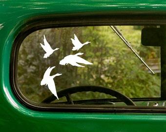 Duck Decal, Duck Sticker , Flying Ducks Sticker, Flying Ducks Decal, Vinyl Sticker, Car Decal, Laptop Sticker, Vinyl Decal